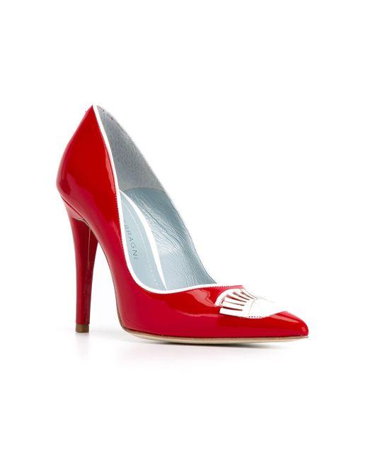 Туфли Flirting Chiara Ferragni                                                                                                              красный цвет