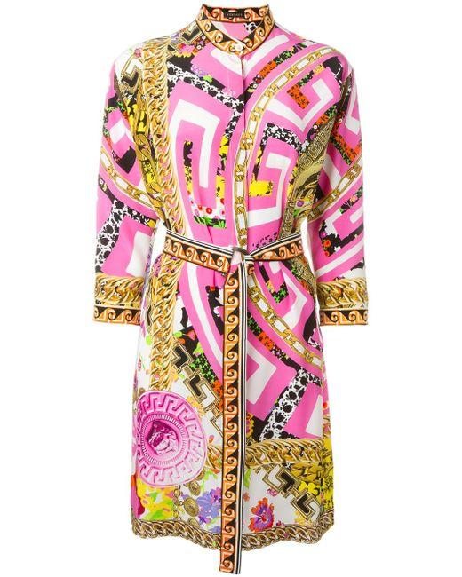 Платье Psychedelic Medusa Versace                                                                                                              многоцветный цвет