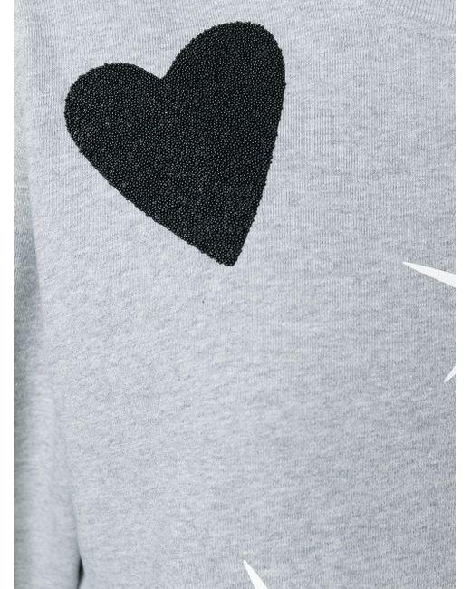 Толстовка Heart Swallow Mcq Alexander Mcqueen                                                                                                              серый цвет