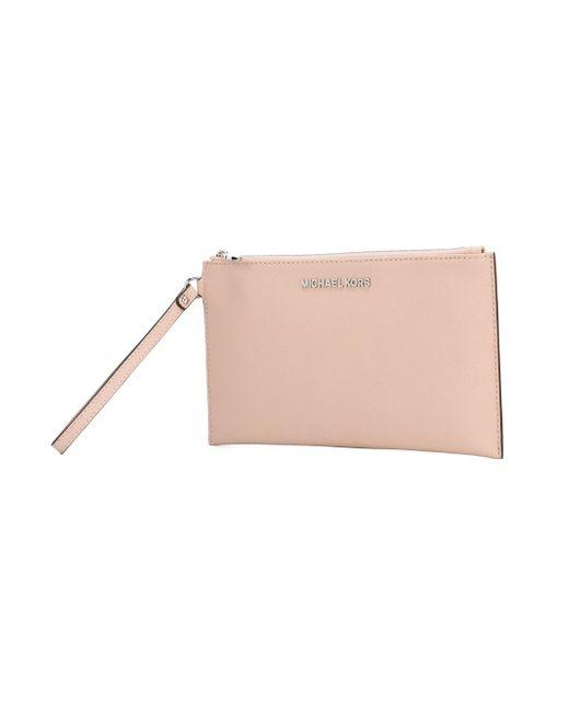 Клатч Bedford Michael Michael Kors                                                                                                              розовый цвет