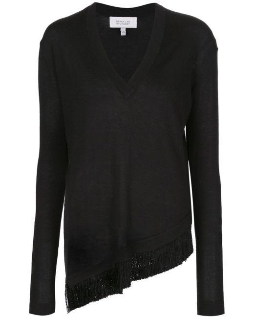 Асимметричный Свитер С Бахромой Derek Lam 10 Crosby                                                                                                              чёрный цвет