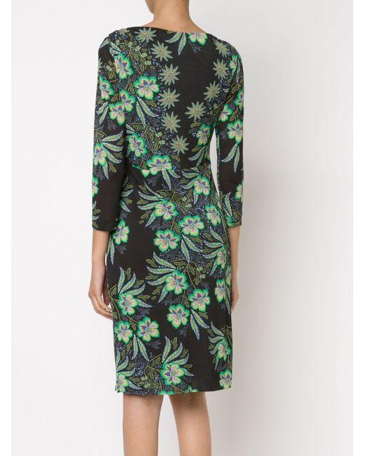Приталенное Платье С Цветочным Принтом Etro                                                                                                              чёрный цвет
