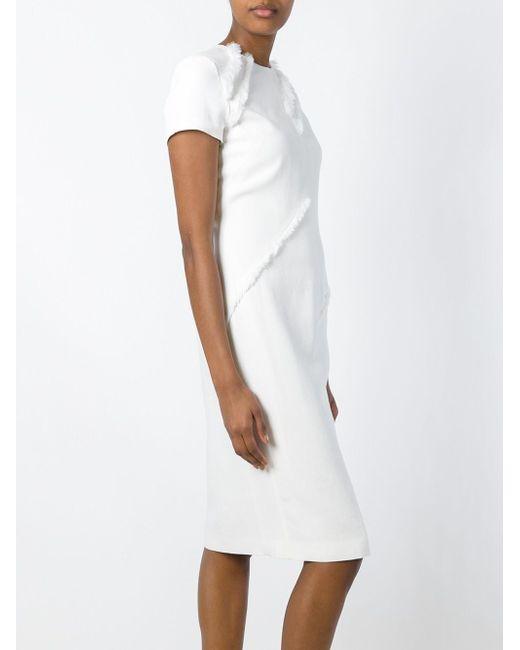 Frayed Fitted Dress Altuzarra                                                                                                              белый цвет