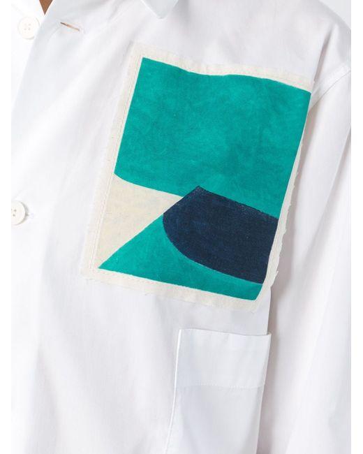 Рубашка С Нашивкой Jack Davidson Marni                                                                                                              белый цвет