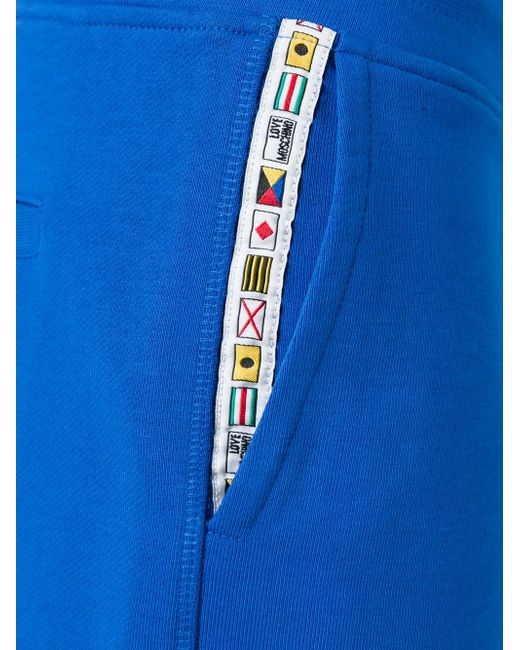 Шорты На Резинке Love Moschino                                                                                                              синий цвет