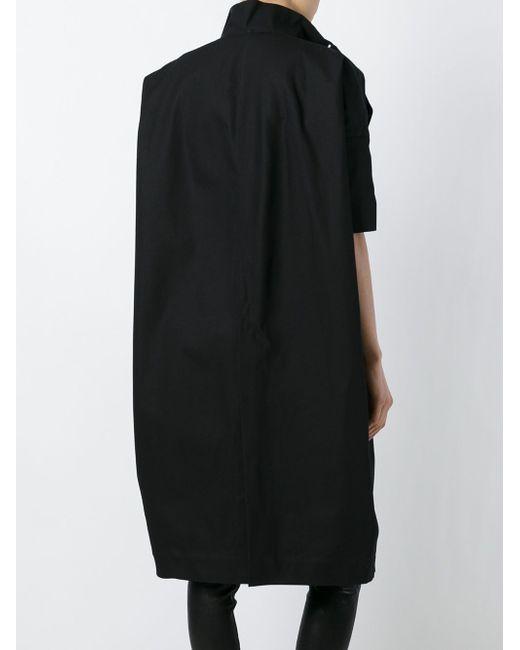 Пальто Свободного Кроя Rick Owens                                                                                                              чёрный цвет