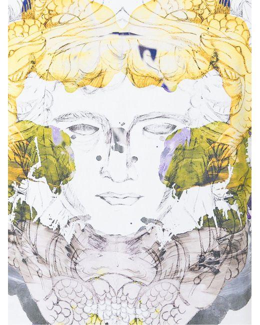 Medusa Print T-Shirt Versace                                                                                                              белый цвет
