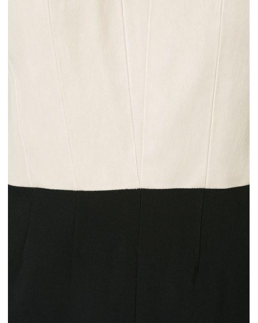 Двухцветное Платье-Футляр Narciso Rodriguez                                                                                                              Nude & Neutrals цвет