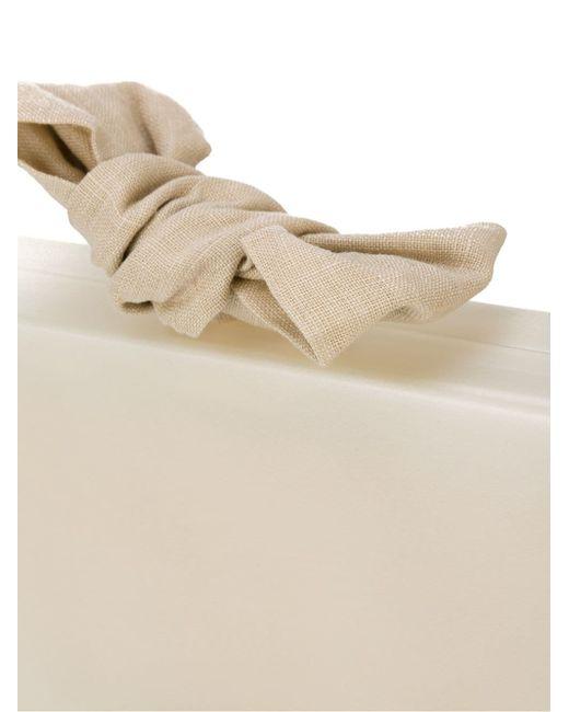 Клатч С Бантом Charlotte Olympia                                                                                                              Nude & Neutrals цвет