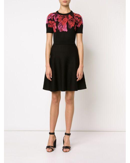 Платье Скейтер С Цветочным Принтом Lanvin                                                                                                              чёрный цвет
