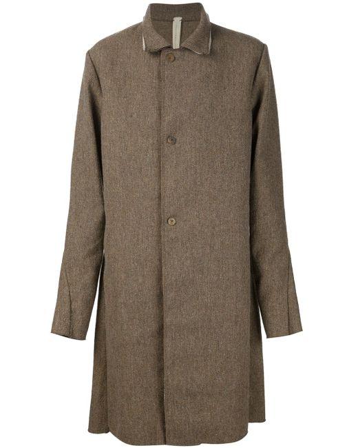 Однобортное Пальто A DICIANNOVEVENTITRE                                                                                                              коричневый цвет
