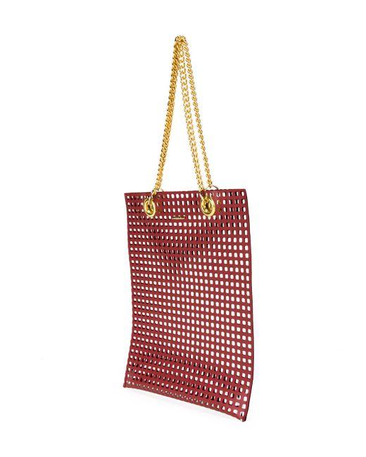 Сетчатая Сумка-Тоут Muveil                                                                                                              красный цвет