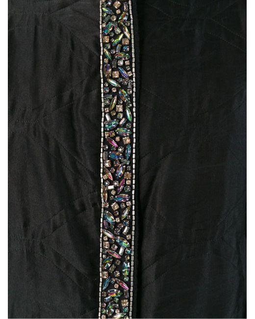 Декорированная Куртка-Бомбер Isabel Marant                                                                                                              чёрный цвет