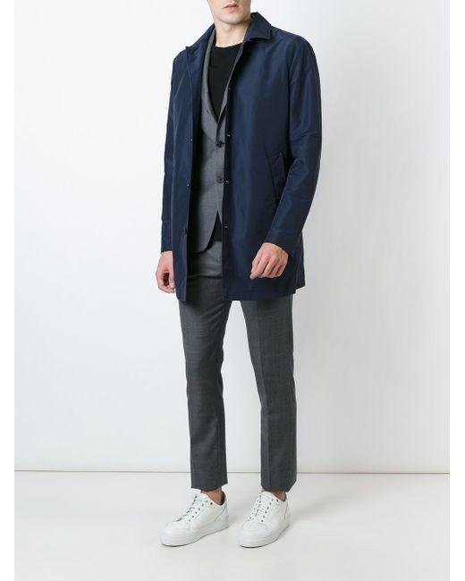 Удлиненная Куртка На Пуговицах Eleventy                                                                                                              синий цвет