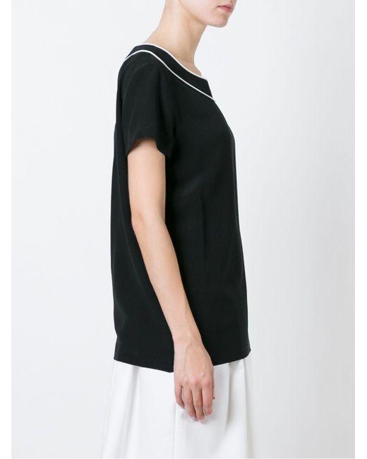 Блузка С Контрастной Окантовкой BOUTIQUE MOSCHINO                                                                                                              чёрный цвет