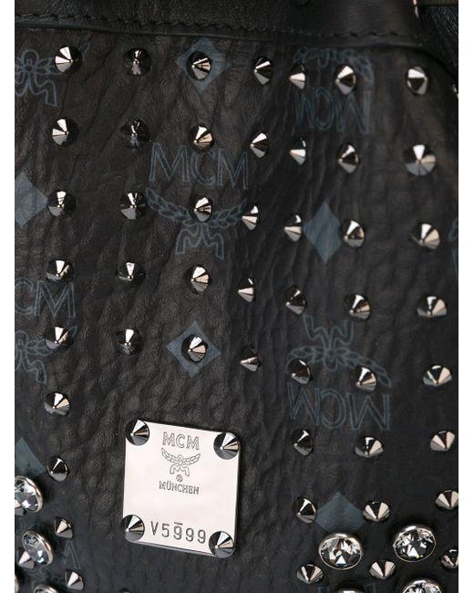 Сумка-Мешок С Заклепками MCM                                                                                                              чёрный цвет