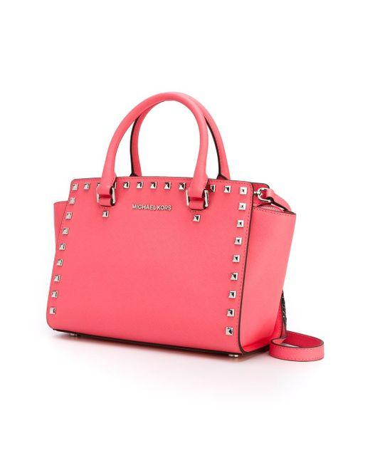 Средняя Сумка-Тоут Selma Michael Michael Kors                                                                                                              розовый цвет