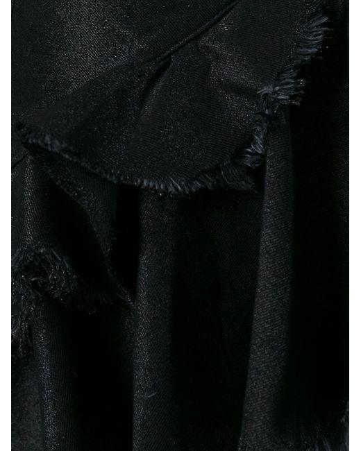 Джинсовая Юбка С Необработанными Краями Marques Almeida                                                                                                              чёрный цвет