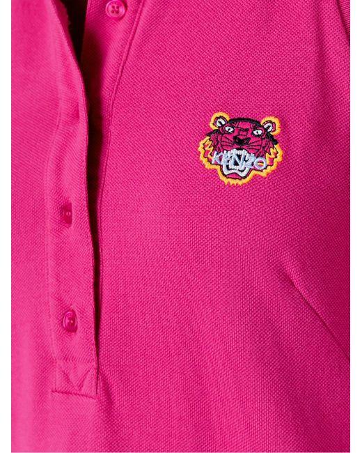 Платье-Поло Tiger Kenzo                                                                                                              розовый цвет