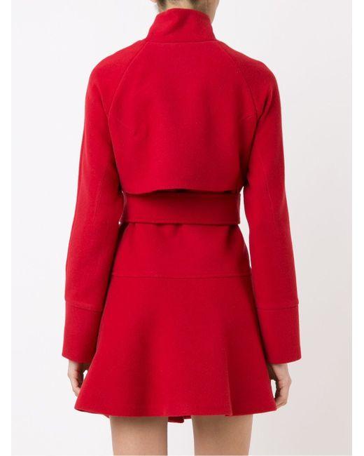 Panel Detail Trench Coat GIULIANA ROMANNO                                                                                                              красный цвет