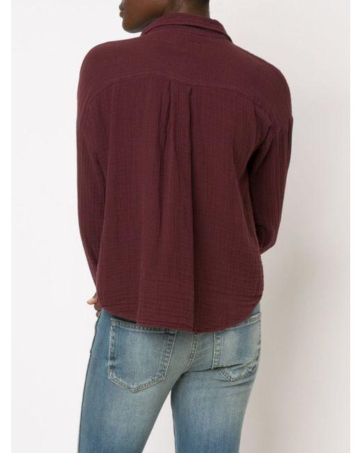 Укороченная Рубашка Мешковатого Кроя Current/Elliott                                                                                                              красный цвет