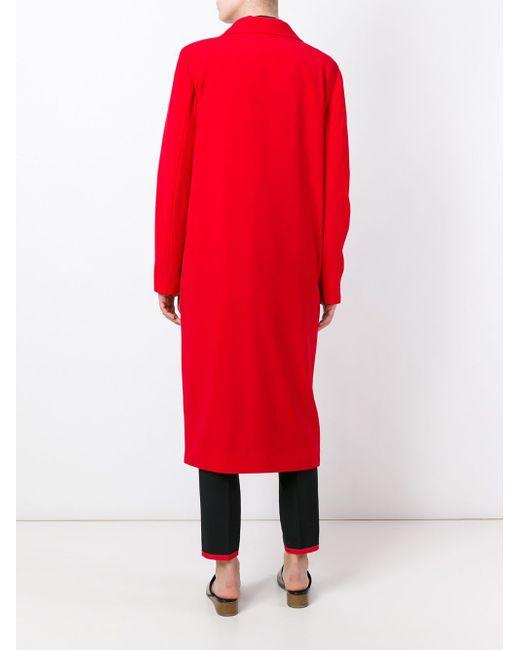 Двубортное Пальто Each X Other                                                                                                              красный цвет
