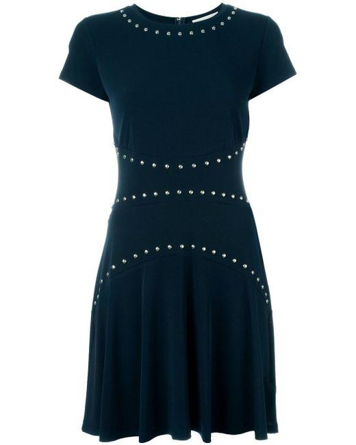 Платье С Короткими Рукавами Michael Michael Kors                                                                                                              синий цвет