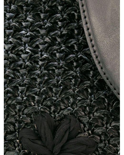 Сумка-Тоут С Цветочной Аппликацией Ermanno Scervino                                                                                                              чёрный цвет
