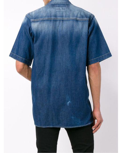 Short Sleeved Denim Shirt Dsquared2                                                                                                              синий цвет
