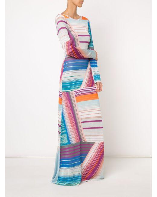 Printed Stripe Maxi Dress Missoni                                                                                                              белый цвет