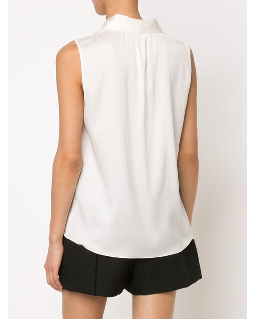 Блузка Без Рукавов Elie Tahari                                                                                                              белый цвет