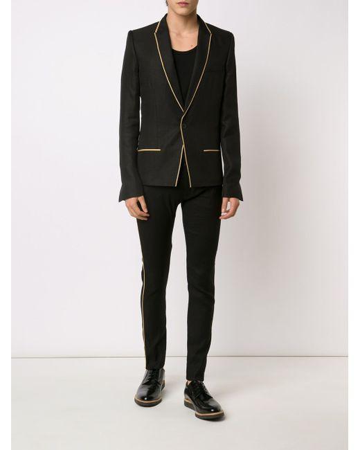 Пиджак С Контрастной Окантовкой Haider Ackermann                                                                                                              чёрный цвет