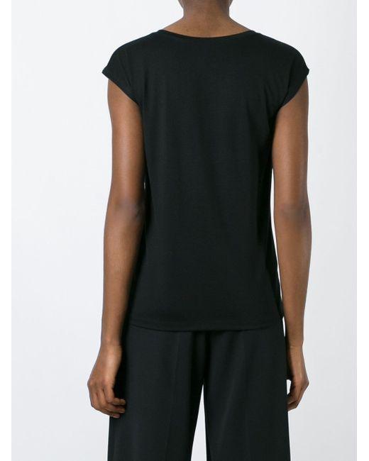 Cap Sleeve T-Shirt Issey Miyake                                                                                                              чёрный цвет