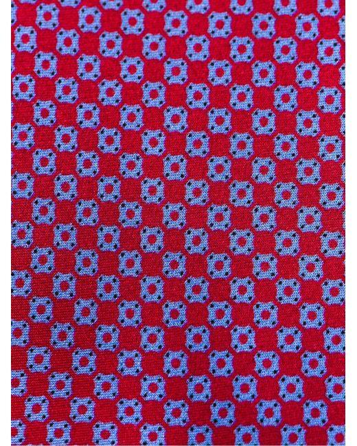 Галстук С Мелким Принтом Brioni                                                                                                              красный цвет