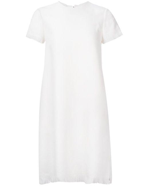 Платье Шифт С Необработанными Краями ASTRAET                                                                                                              белый цвет
