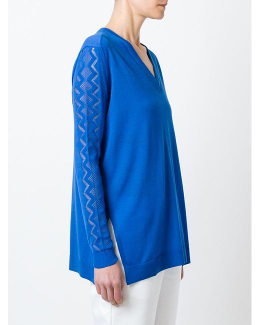 Свитер С Волнистым Узором Kenzo                                                                                                              синий цвет