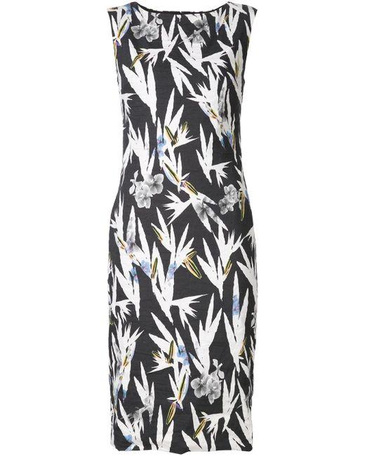 Приталенное Платье С Цветочным Принтом Nicole Miller                                                                                                              чёрный цвет