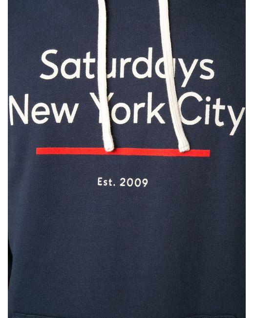 Толстовка Underline Saturdays Surf Nyc                                                                                                              синий цвет