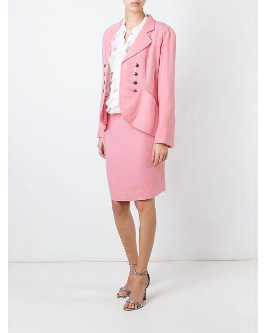 Юбочный Костюм Christian Dior Vintage                                                                                                              розовый цвет