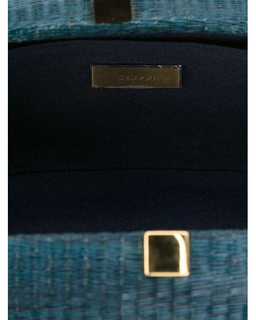 Detachable Chain Strap Clutch SERPUI                                                                                                              синий цвет
