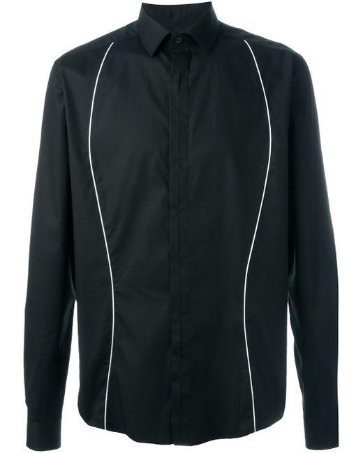 Рубашка С Контрастными Полосками Les Hommes                                                                                                              чёрный цвет