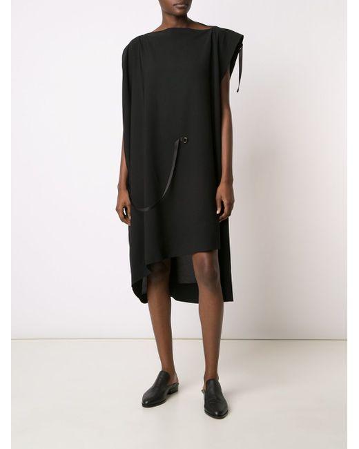 Асимметричное Платье С Лямками Issey Miyake                                                                                                              чёрный цвет