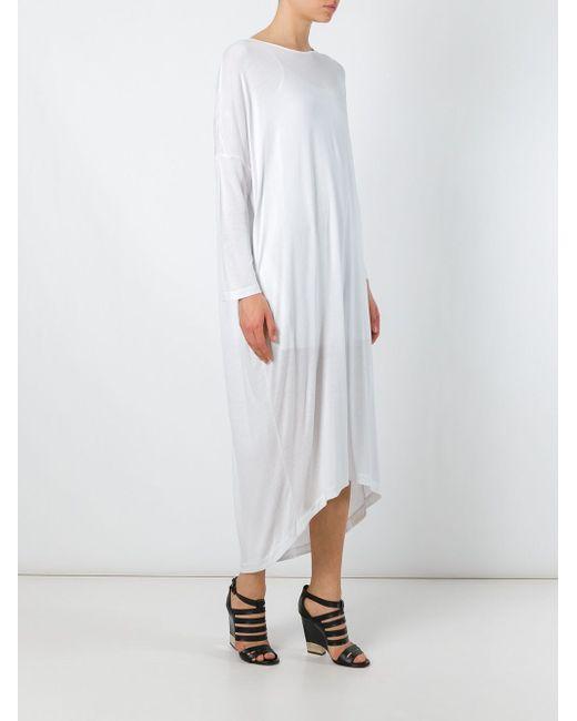 Свободное Трикотажное Платье Unconditional                                                                                                              белый цвет
