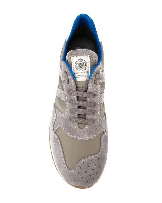 Кроссовки С Панельным Дизайном Alberto Fasciani                                                                                                              серый цвет