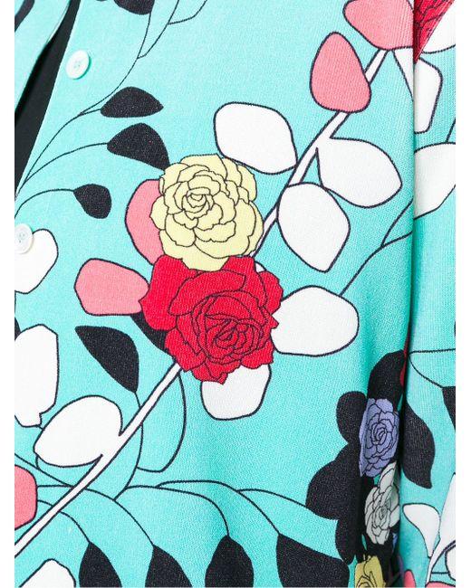 Кардиган С Цветочным Принтом Antonio Marras                                                                                                              синий цвет