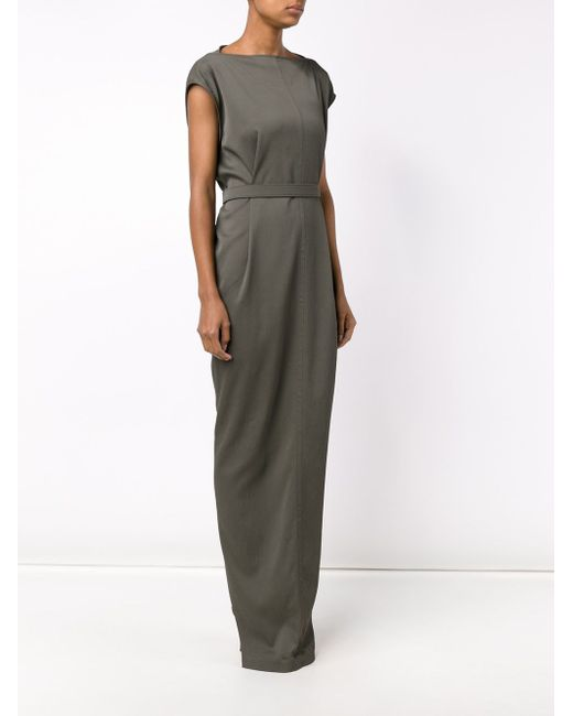 Long Belted Dress Rick Owens                                                                                                              зелёный цвет