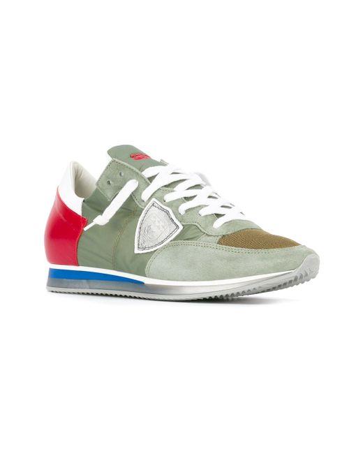 Кроссовки С Панельным Дизайном Philippe Model                                                                                                              зелёный цвет
