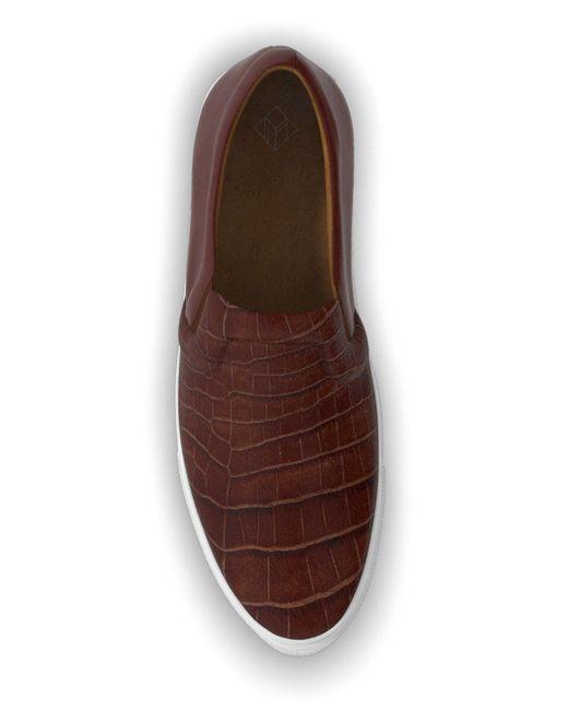 Кеды-Слипон Maddox MYSWEAR                                                                                                              коричневый цвет