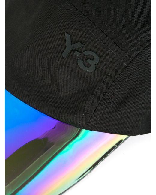 Кепка С Переливающимся Козырьком Y-3                                                                                                              чёрный цвет