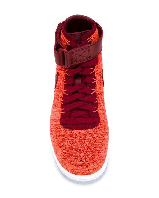 Кроссовки Air Force 1 Ultra Flyknit Nike                                                                                                              красный цвет